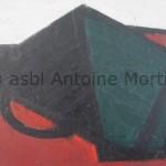 Composition, Antoine Mortier, 1955, huile sur toile