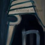 Demi mort, Antoine Mortier, 1964, huile sur toile 162x114