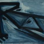 Figure couchée, Antoine Mortier, 1949, huile sur toile 114x162