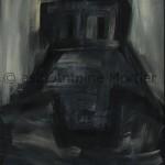 Idole I, Antoine Mortier, 1970,huile sur toile, 146x97
