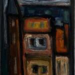 La maison à la tourelle, Antoine Mortier, 1943,huile sur toile, 65x46