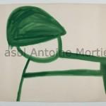 Le citron vert, Antoine Mortier, 1962, gouache sur papier, 150x203