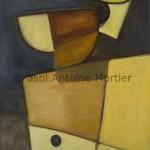 Moulin à café,Antoine Mortier, 1995, huile sur toile,92x73