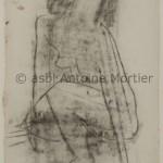 Sans titre, Antoine Mortier, 1945, fusain sur papier, 37,5x26