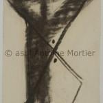 Sans titre, Antoine Mortier, 1947, fusain sur papier, 21x27