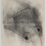 Sans titre, Antoine Mortier, 1960, fusain sur papier steinbach malmédy, 112,5x150