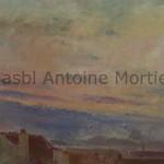 Sur les toits, panorama, Antoine Mortier, 1930, huile sur toile, 40x54