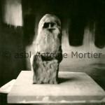 Etude, sculpture plâtre, n°5 En fond arrière, l'huile sur toile  Mysticité,1975, 153x205