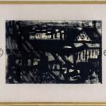 Panorama, encre de chine sur papier, signée coin inférieur droit Mortier,31,5x39,5 encadré