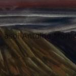 Paysage, aquarelle sur papier, signée  Mortier coin inférieur, 26,5x 35,5 (encadré)